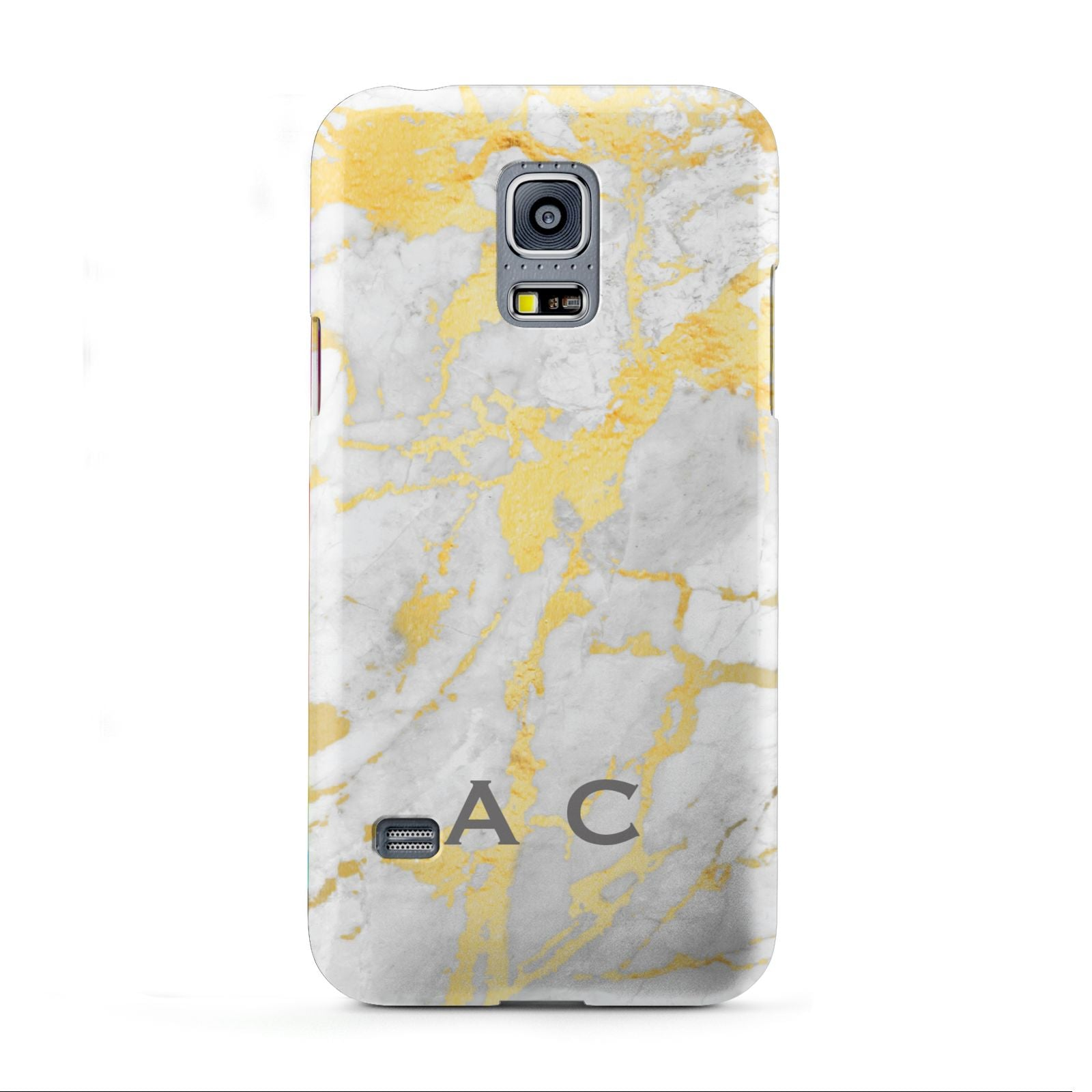 Gold Marble Initials Personalised Samsung Galaxy S5 Mini Case