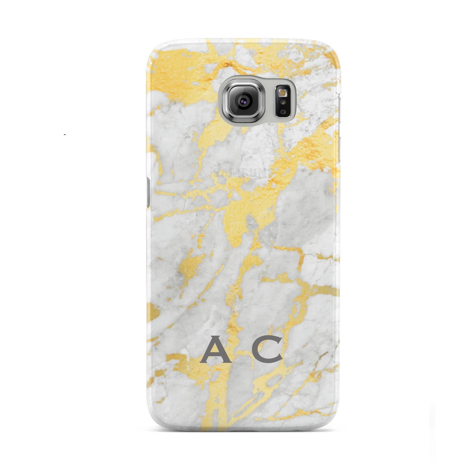 Gold Marble Initials Personalised Samsung Galaxy S6 Case