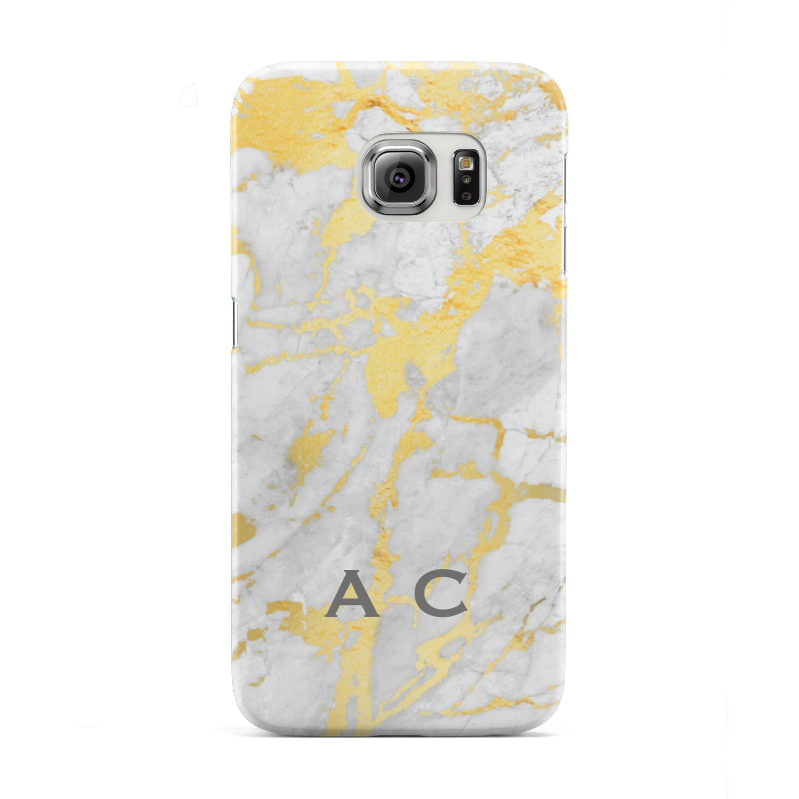 Gold Marble Initials Personalised Samsung Galaxy S6 Edge Case