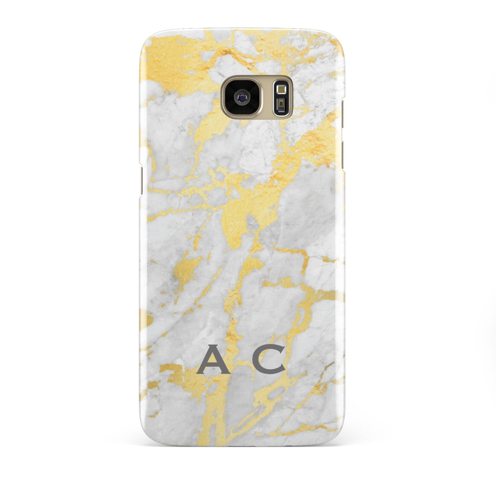 Gold Marble Initials Personalised Samsung Galaxy S7 Edge Case