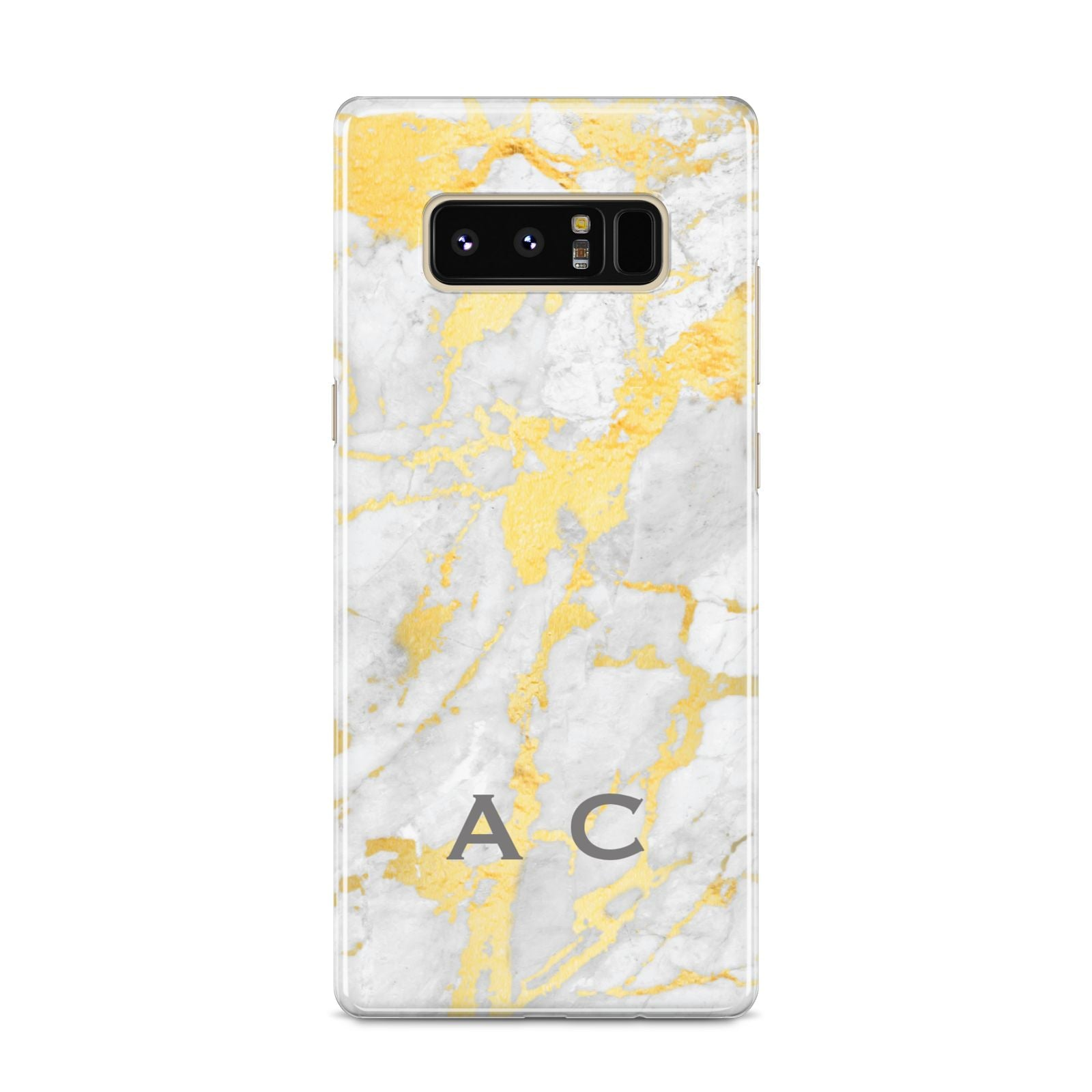 Gold Marble Initials Personalised Samsung Galaxy S8 Case