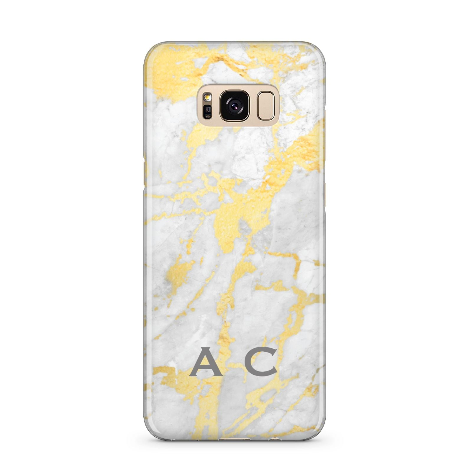 Gold Marble Initials Personalised Samsung Galaxy S8 Plus Case