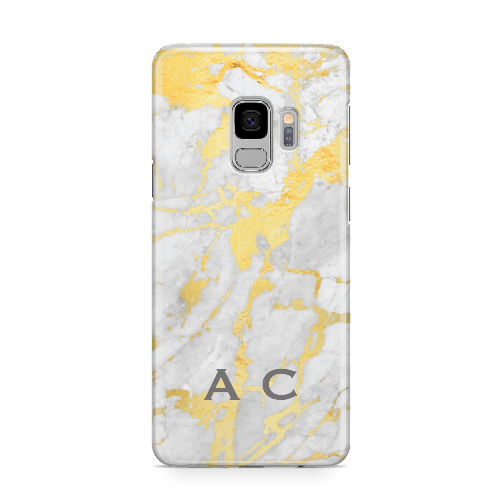 Gold Marble Initials Personalised Samsung Galaxy S9 Case