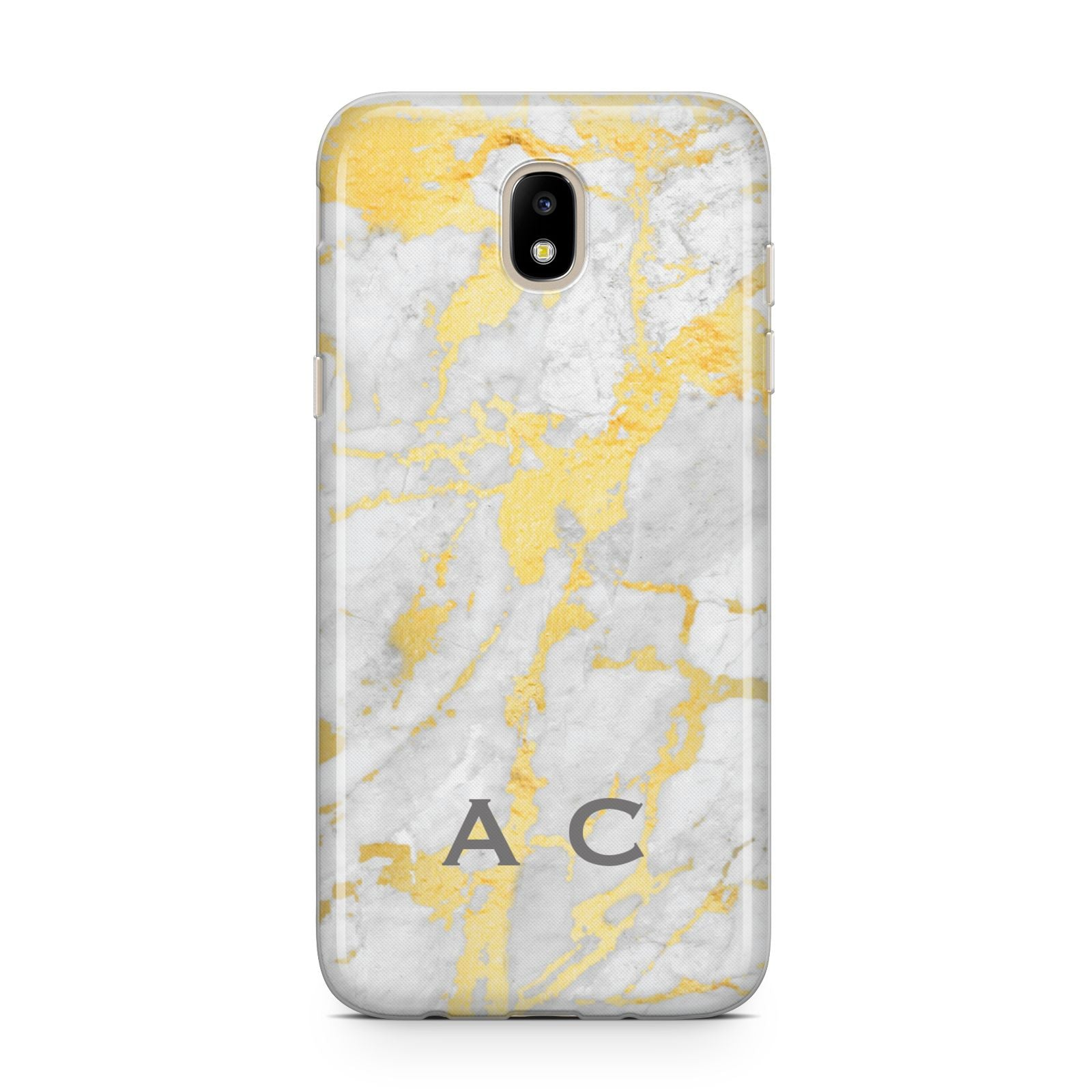 Gold Marble Initials Personalised Samsung J5 2017 Case