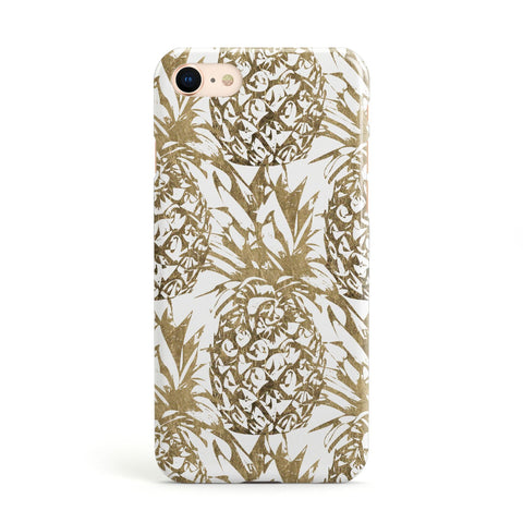 Gold Pineapple Fruit Apple iPhone Case