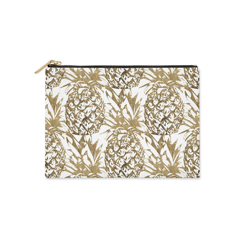 Gold Pineapple Fruit Clutch Bag