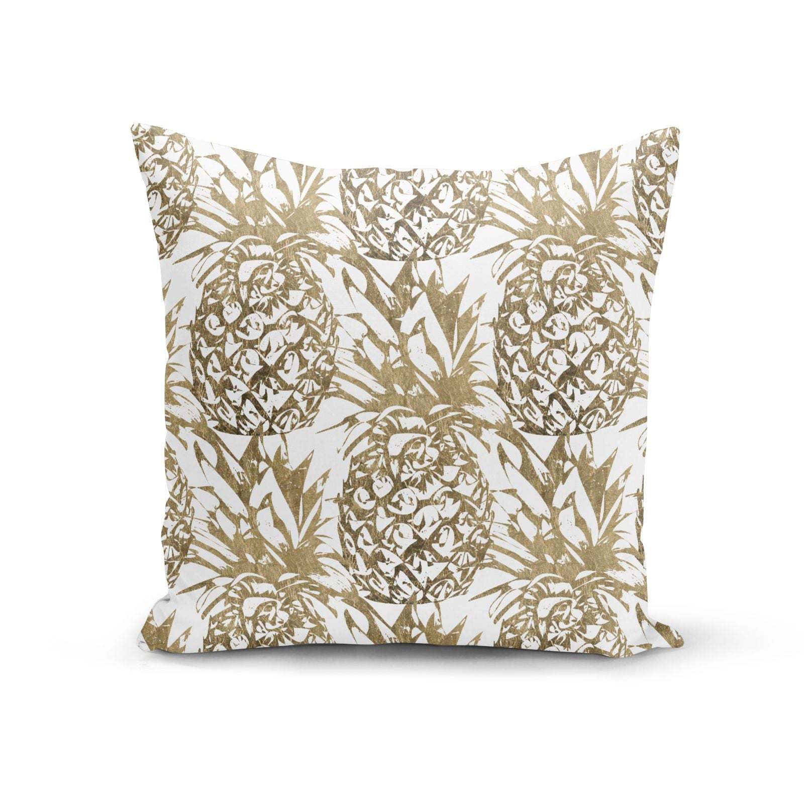 Gold Pineapple Fruit Cotton Cushion