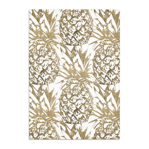 Gold Pineapple Fruit Tea Towel