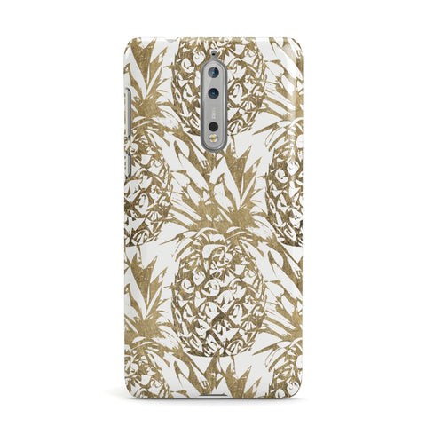 Gold Pineapple Fruit Nokia Case