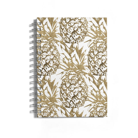 Gold Pineapple Fruit Notebook