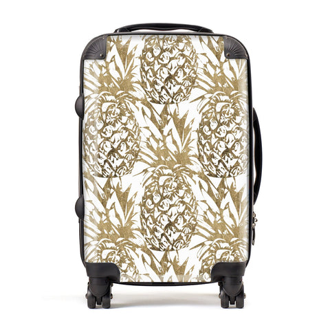 Gold Pineapple Fruit Suitcase