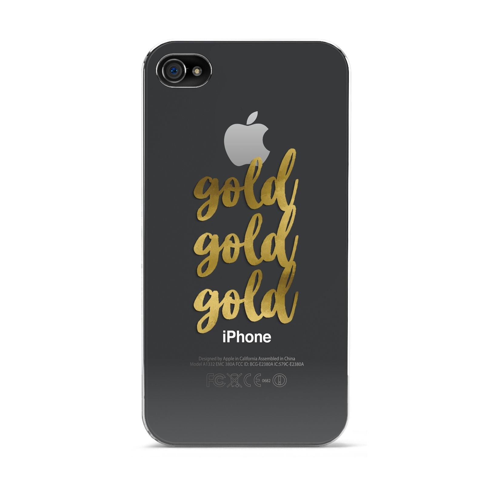 Gold Real Foiled Apple iPhone 4s Case