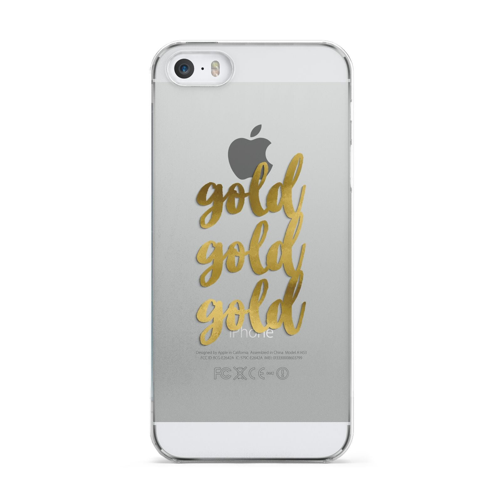 Gold Real Foiled Apple iPhone 5 Case