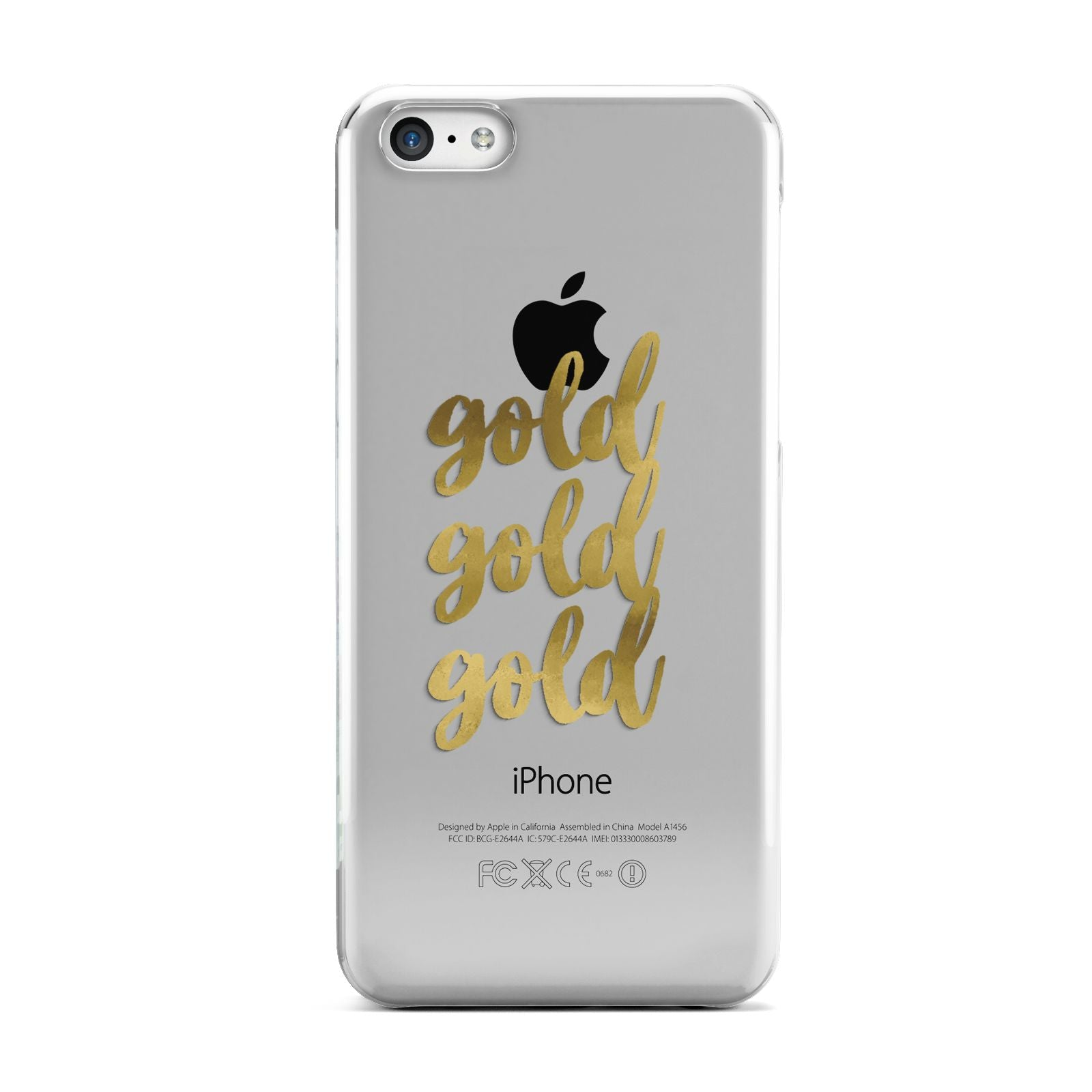 Gold Real Foiled Apple iPhone 5c Case