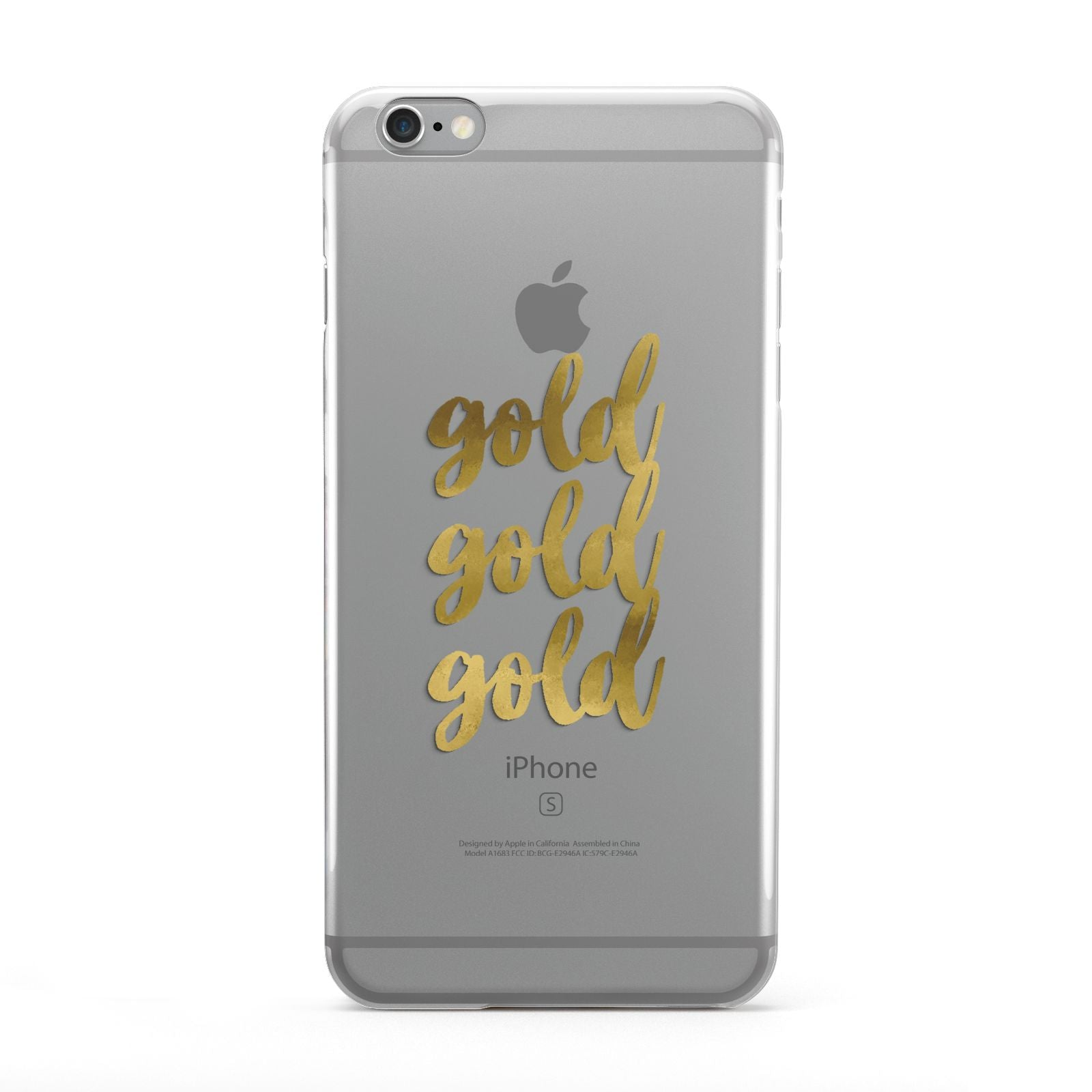 Gold Real Foiled Apple iPhone 6 Plus Case