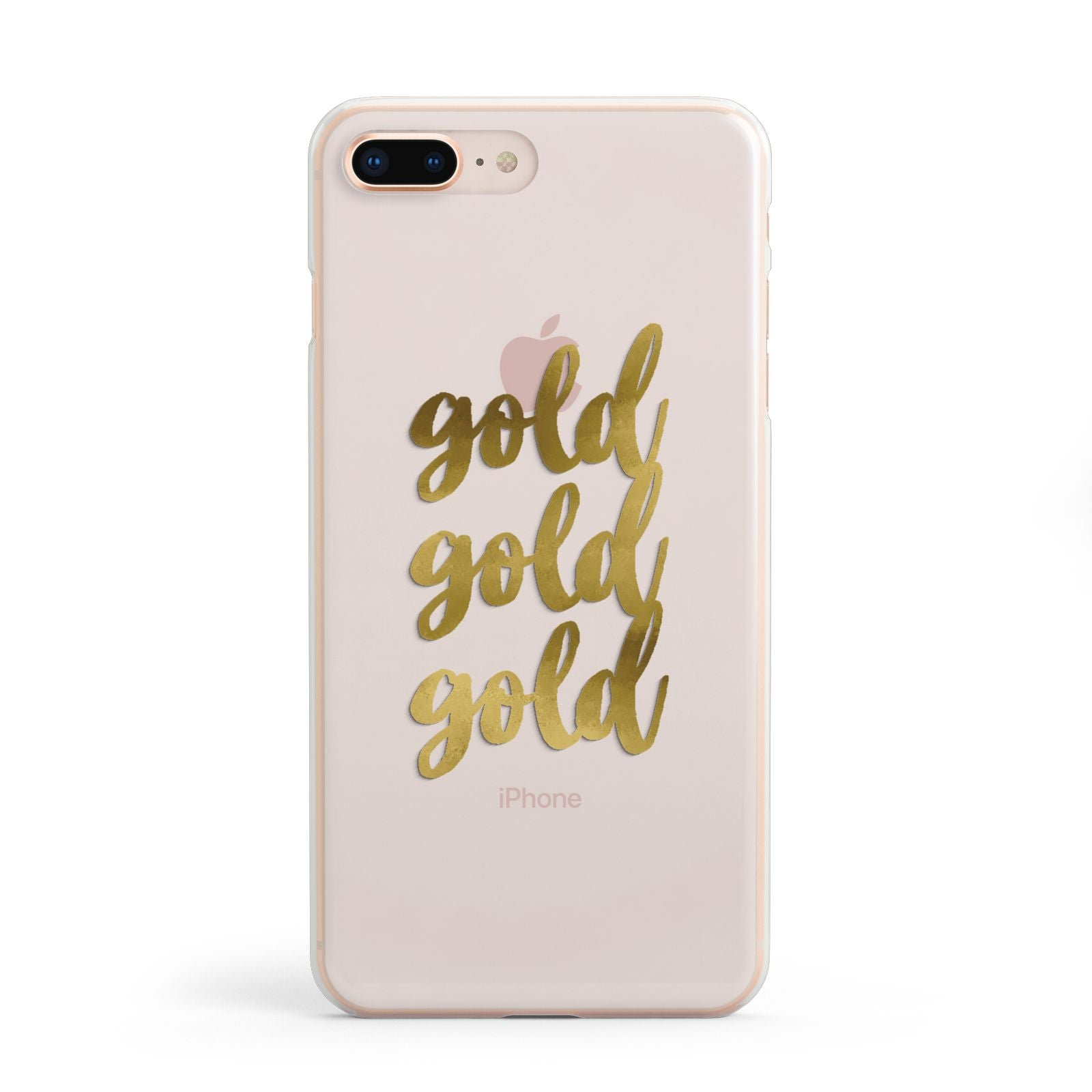 Gold Real Foiled Apple iPhone 8 Plus Case