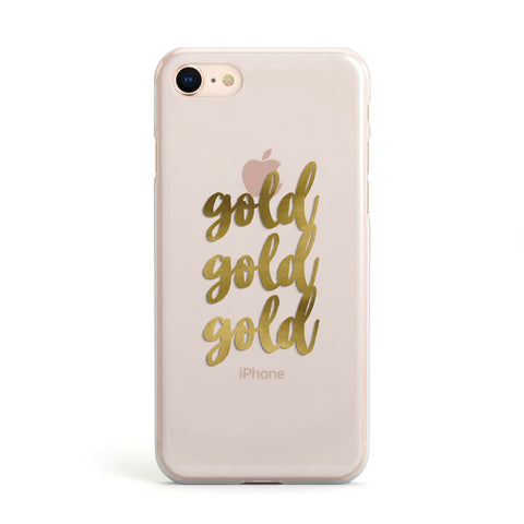 Gold Real Foiled Apple iPhone Case