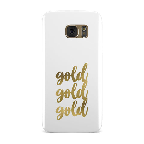 Gold Real Foiled Samsung Galaxy Case