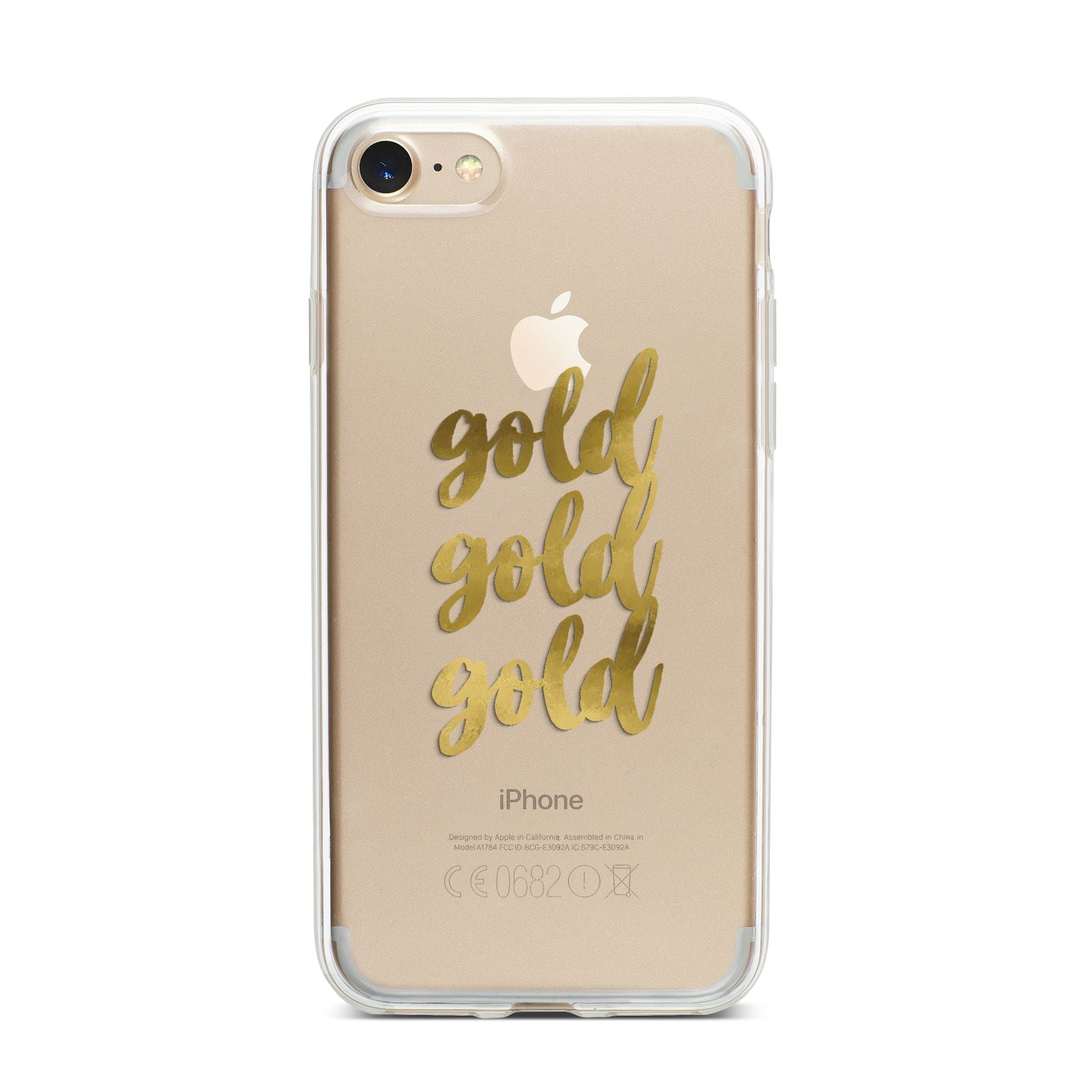 Gold Real Foiled iPhone 7 Bumper Case on Gold iPhone