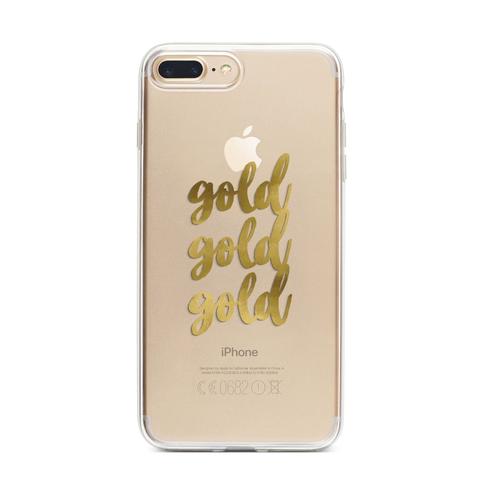 Gold Real Foiled iPhone 7 Plus Bumper Case on Gold iPhone