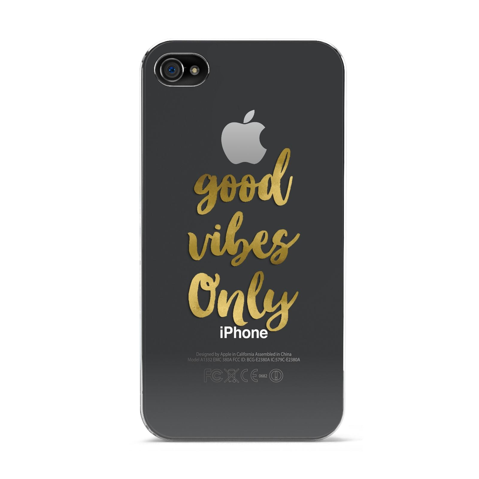 Good Vibes Only Gold Foiled Apple iPhone 4s Case