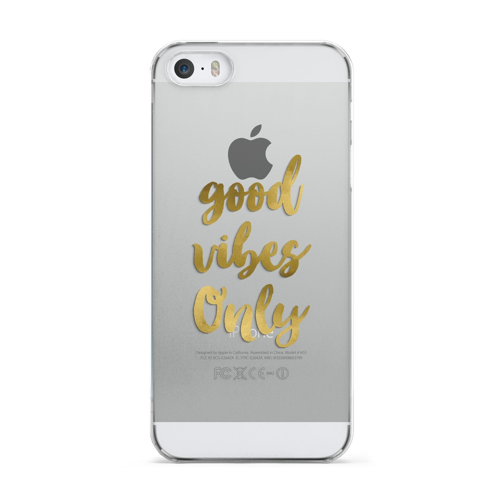 Good Vibes Only Gold Foiled Apple iPhone 5 Case