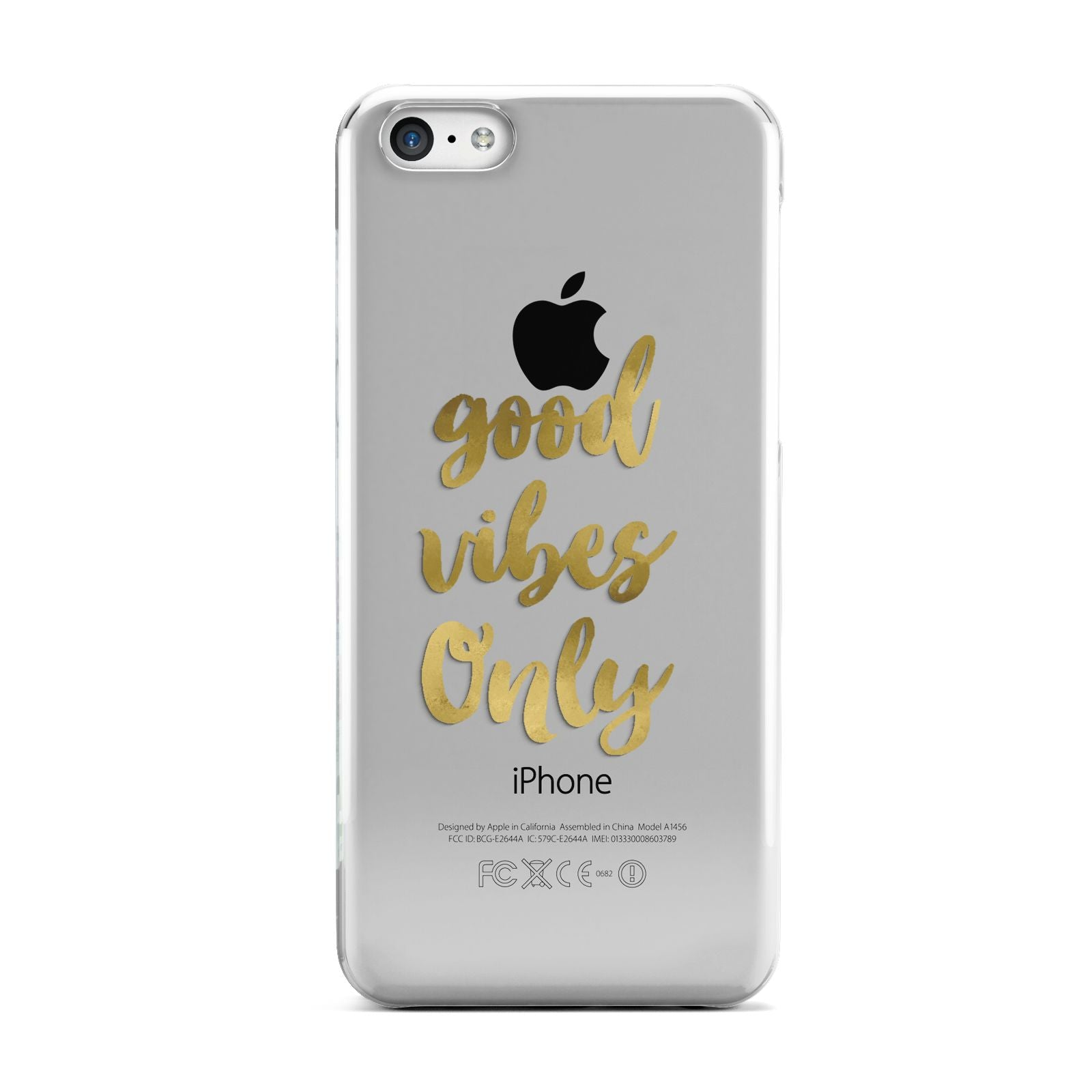 Good Vibes Only Gold Foiled Apple iPhone 5c Case