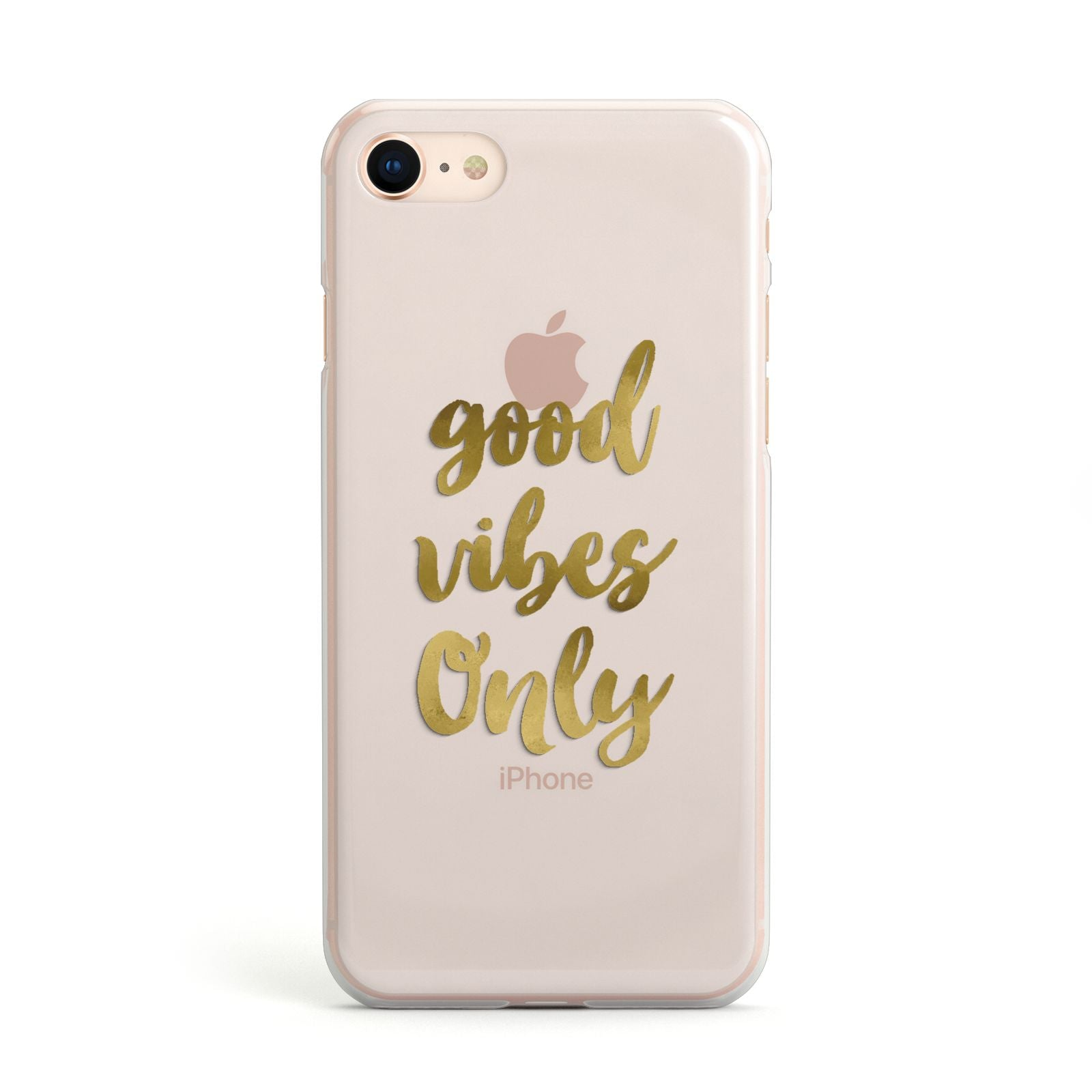 Good Vibes Only Gold Foiled Apple iPhone Case