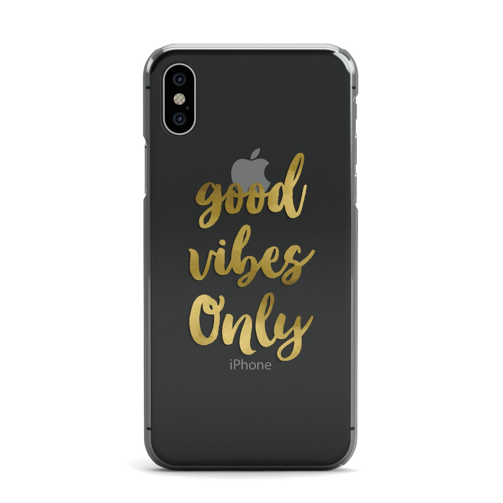 Good Vibes Only Gold Foiled Apple iPhone X Case