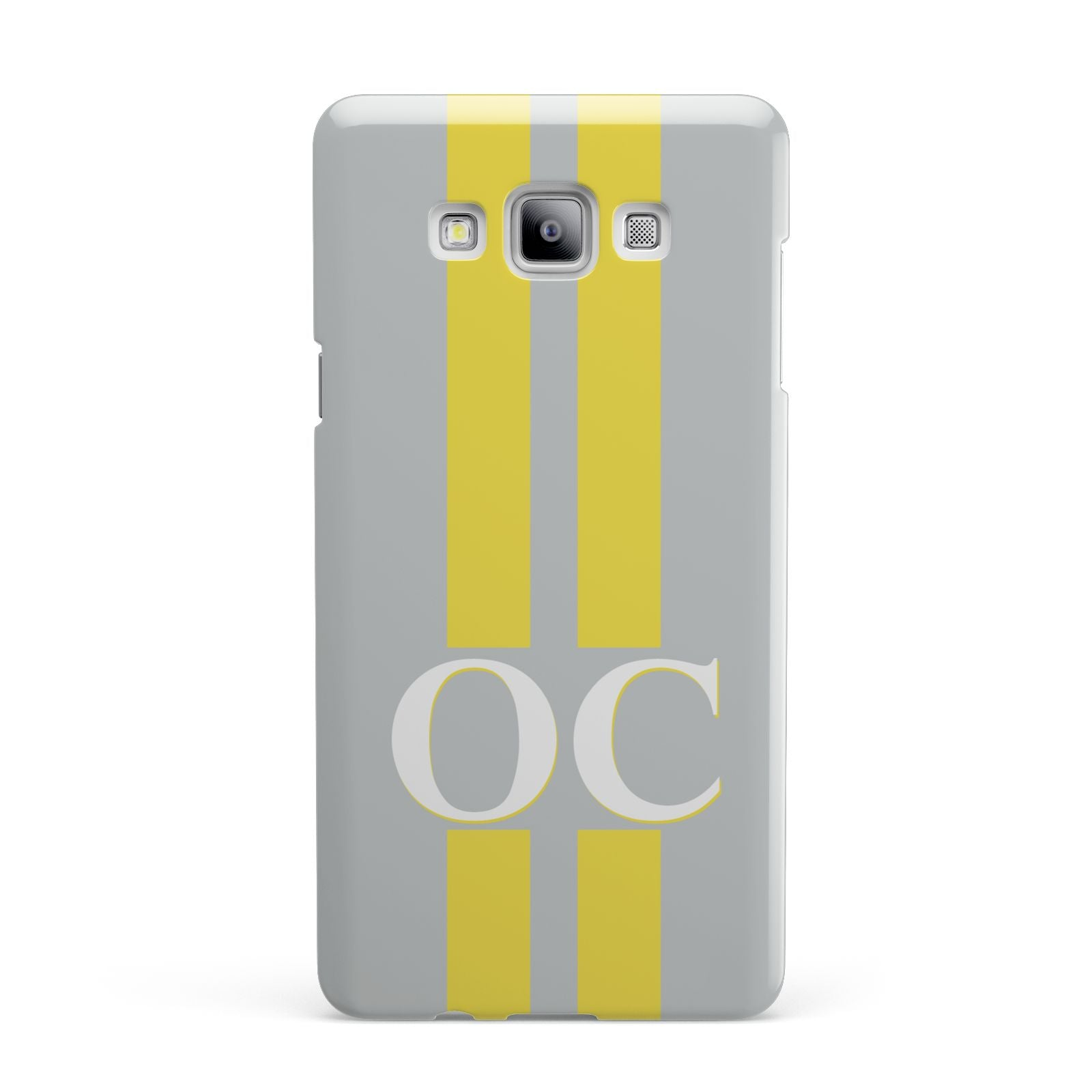 Grey Personalised Initials Samsung Galaxy A7 2015 Case