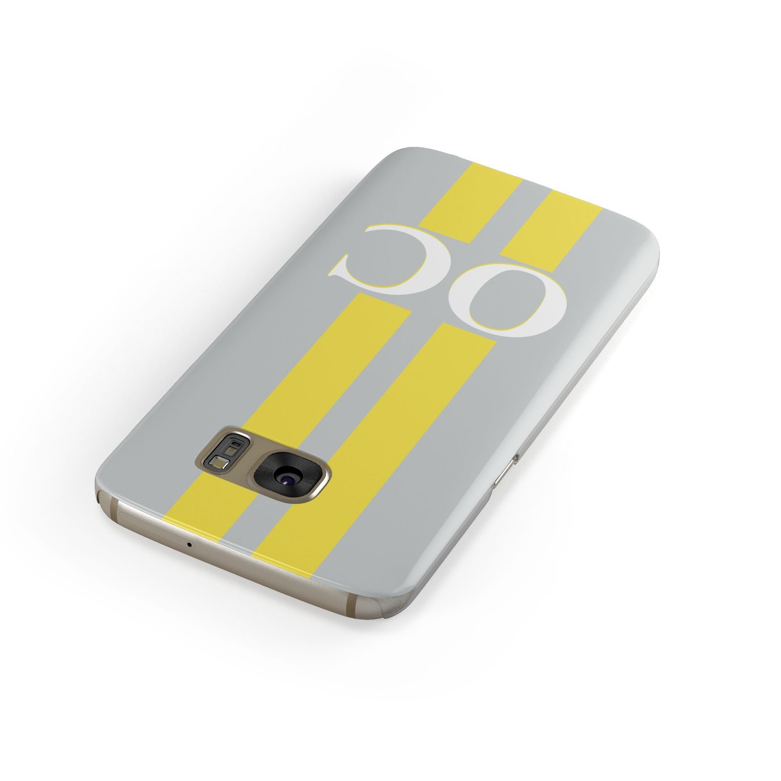 Grey Personalised Initials Samsung Galaxy Case Front Close Up