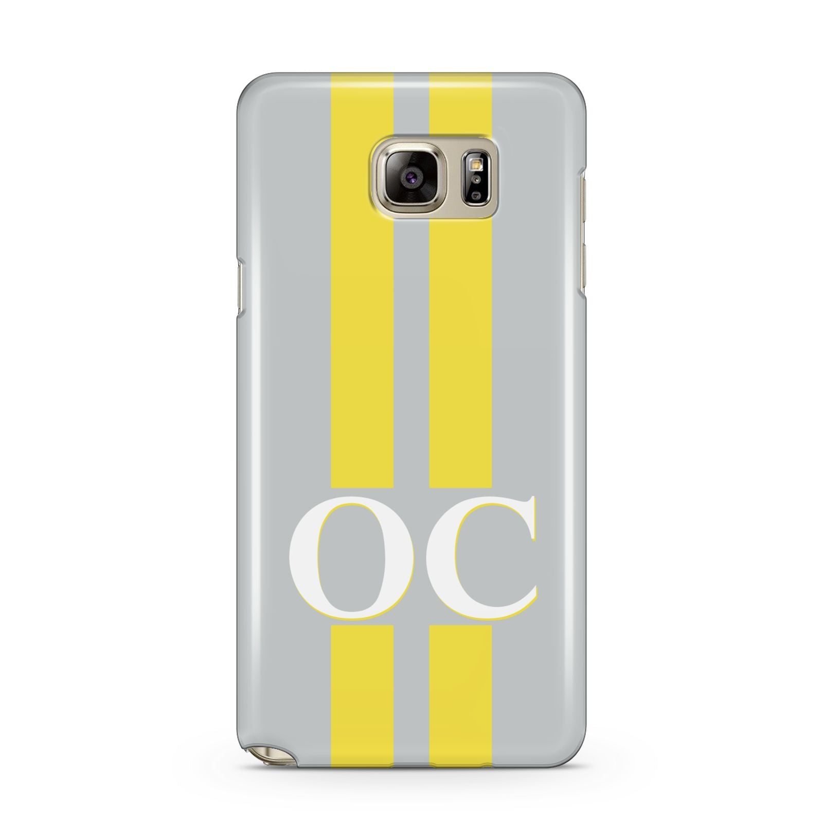 Grey Personalised Initials Samsung Galaxy Note 5 Case