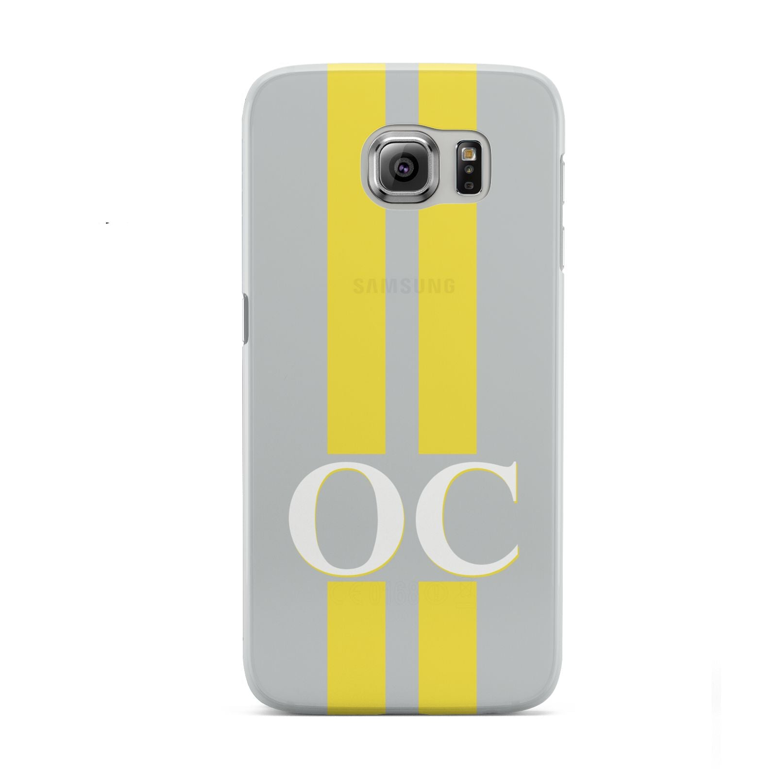 Grey Personalised Initials Samsung Galaxy S6 Case