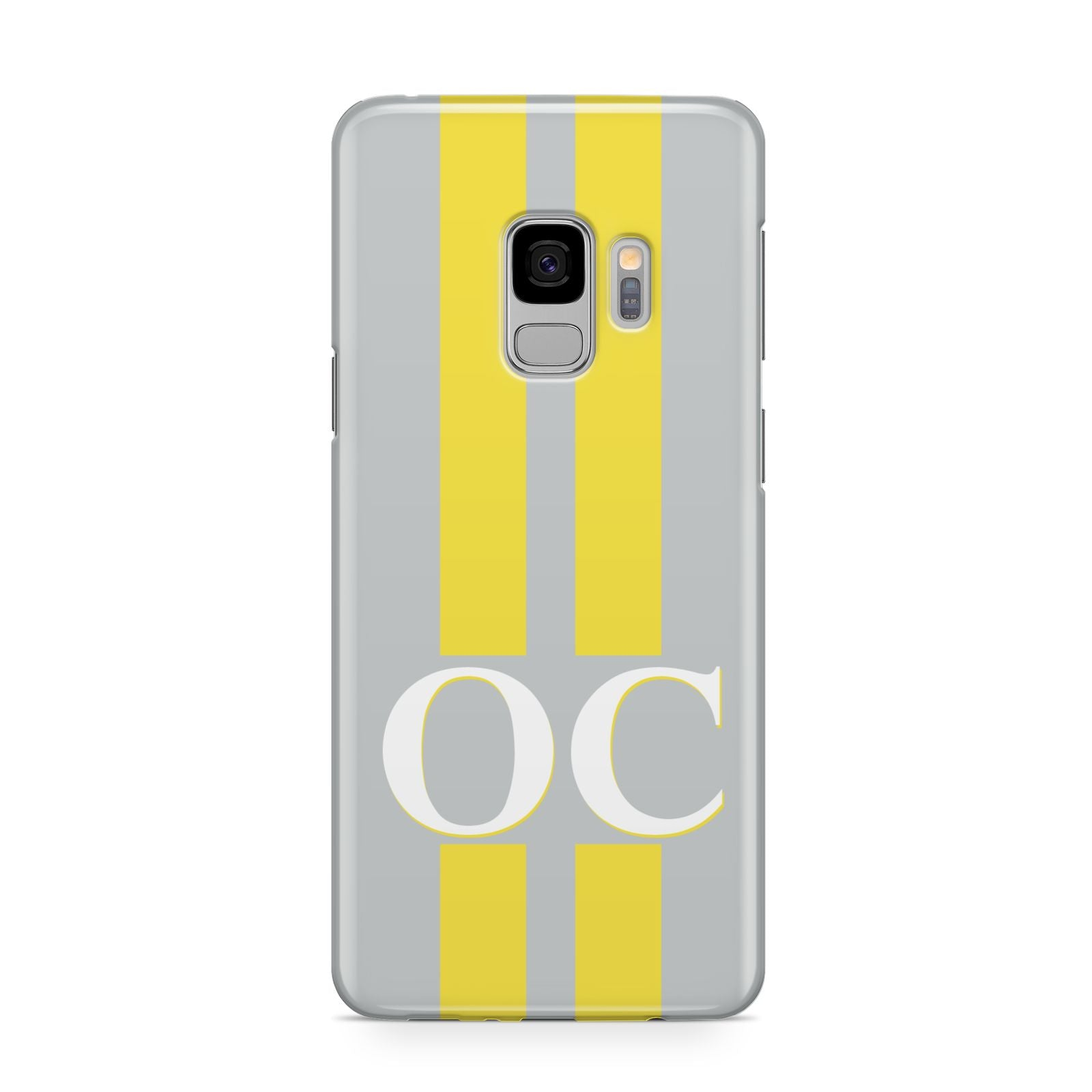 Grey Personalised Initials Samsung Galaxy S9 Case