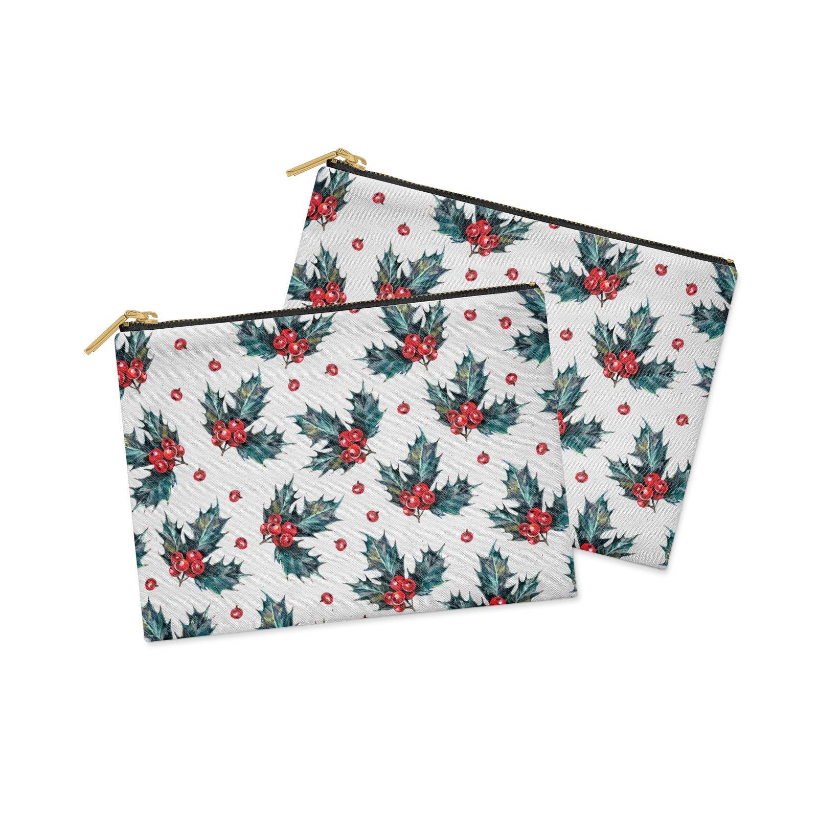 Holly berry Clutch Bag Zipper Pouch Alternative View