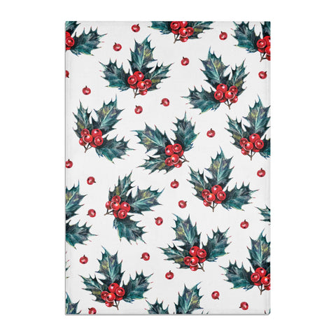Holly & berry Tea Towel