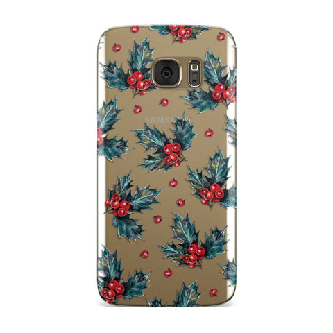 Holly & berry Samsung Galaxy Case