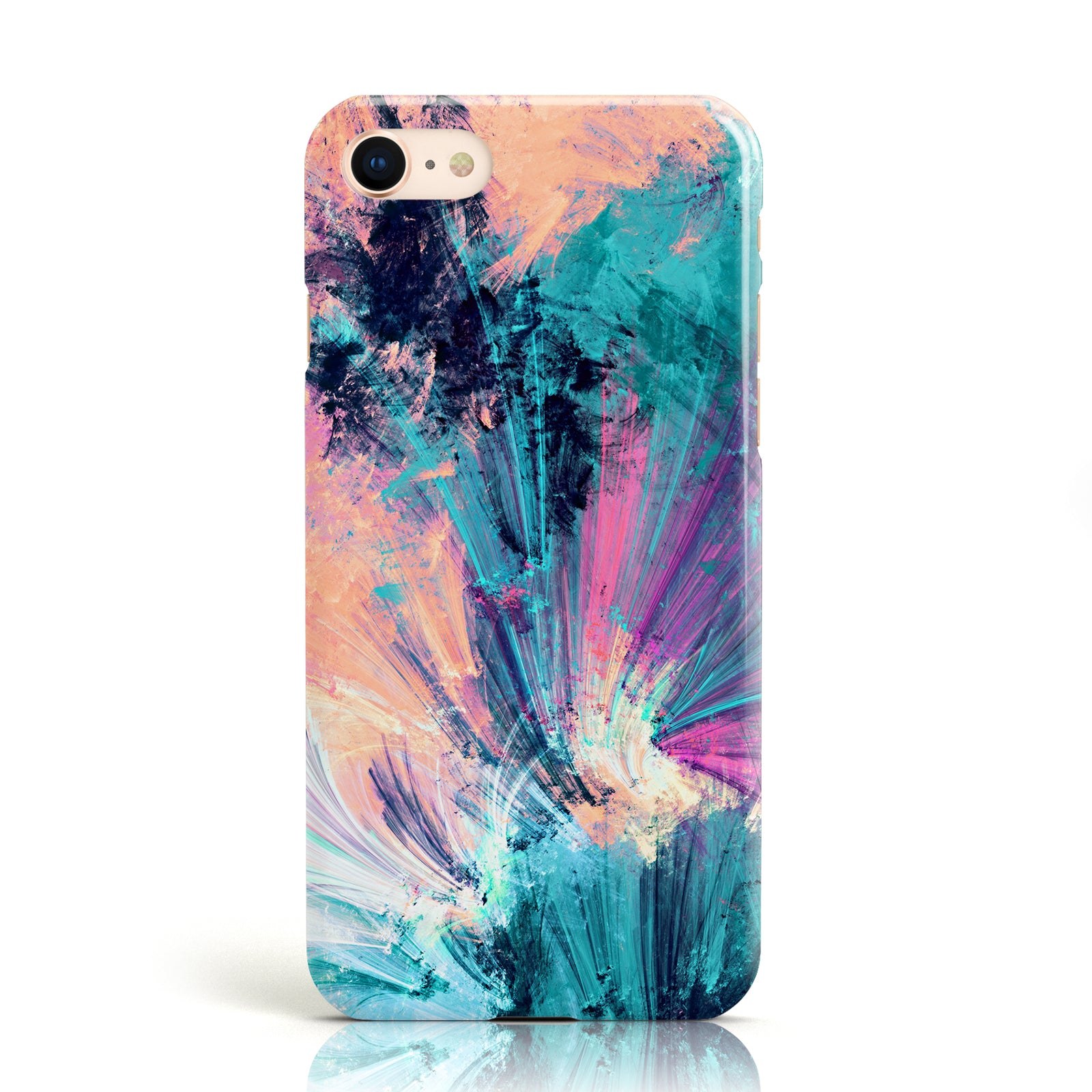 Blue Abstract Art Oil Painting Pattern Phone Case