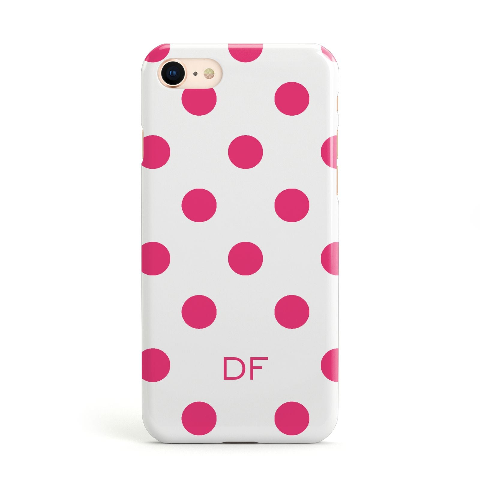 Initial Dots Personalised Apple iPhone Case