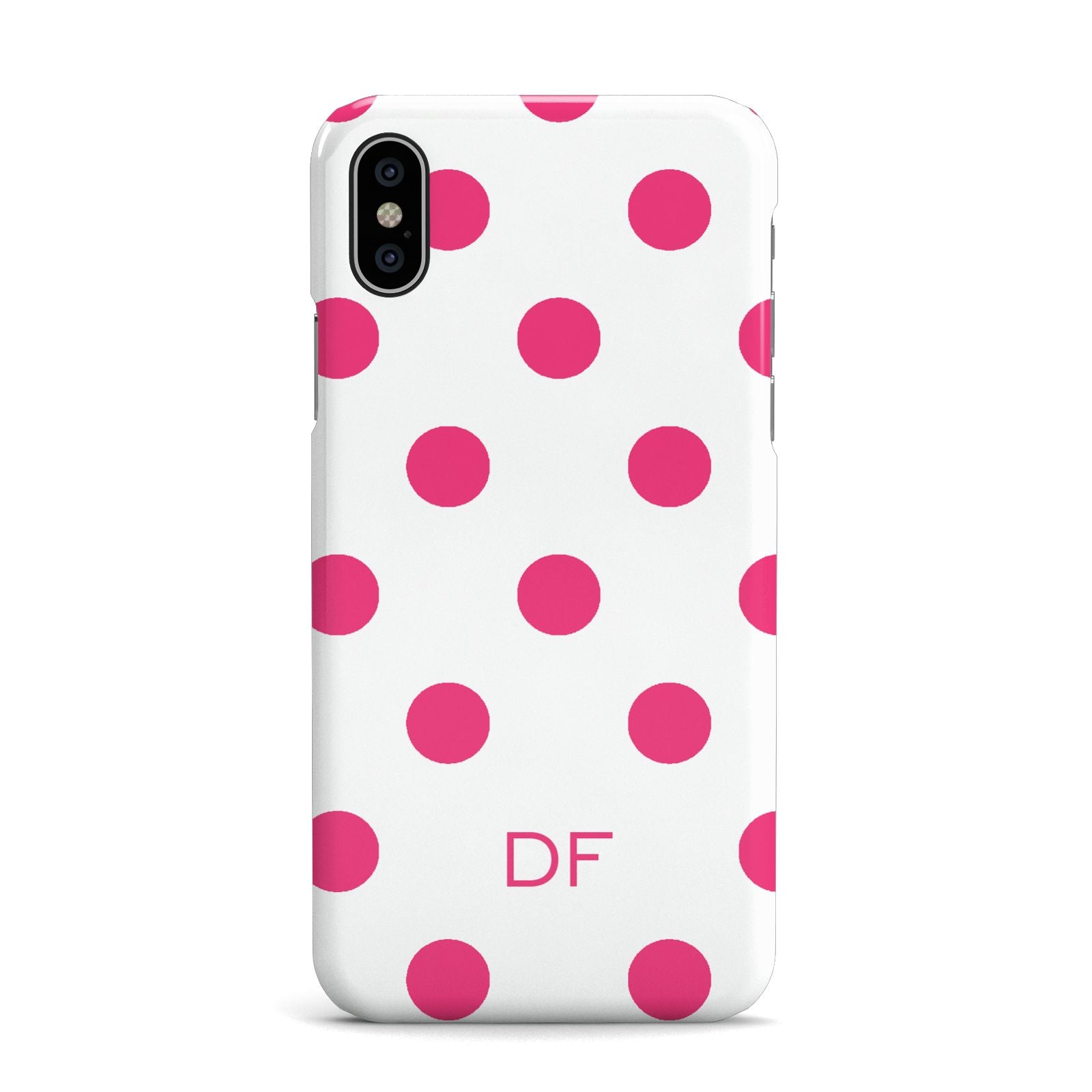 Initial Dots Personalised Apple iPhone X Case