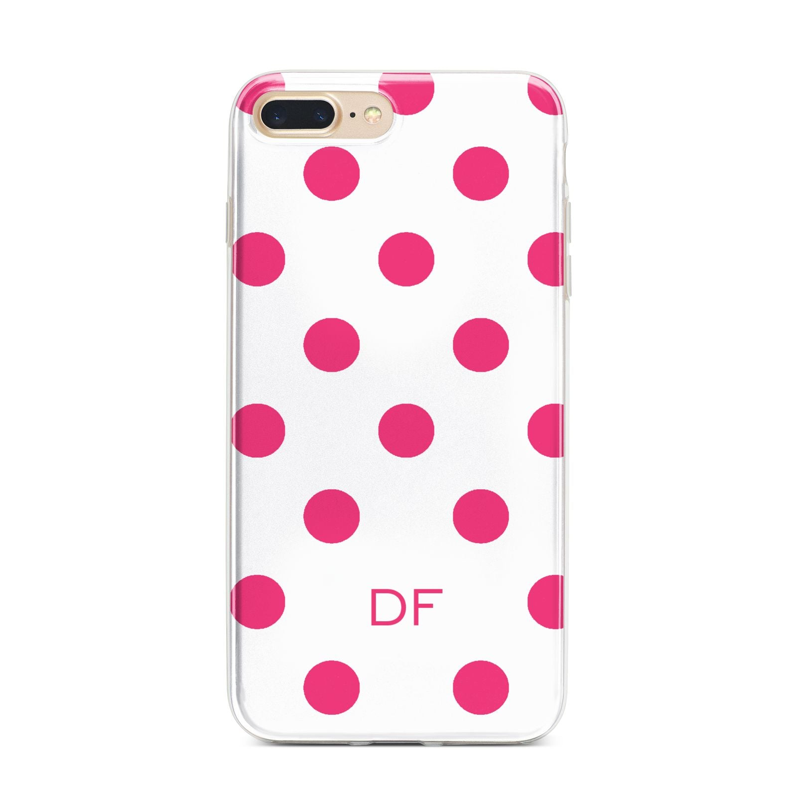 Initial Dots Personalised iPhone 7 Plus Bumper Case on Gold iPhone