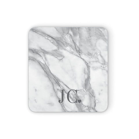 Initials & Love Heart Coasters set of 4