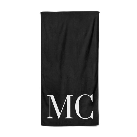 Initials Personalised 1 Beach Towel