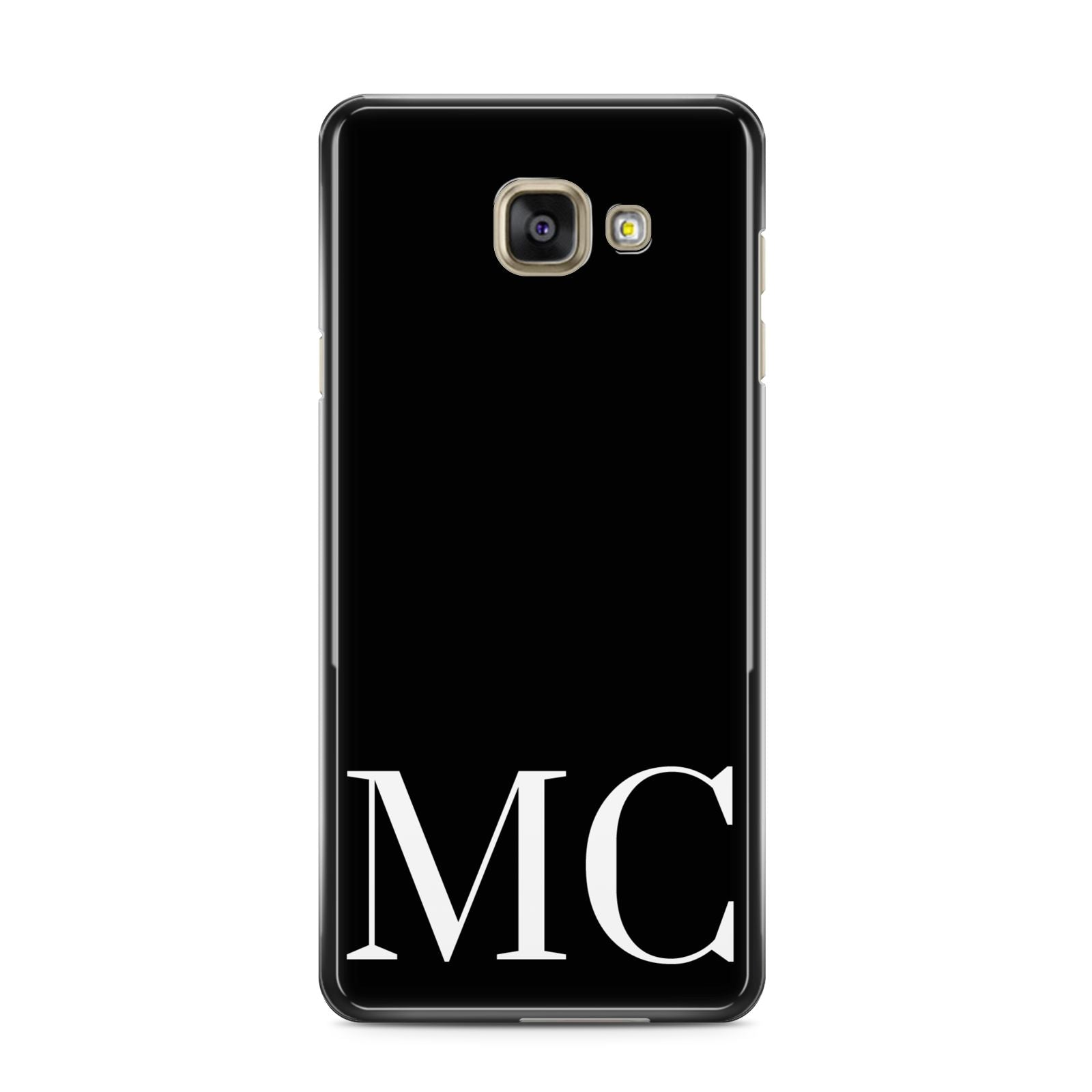 Initials Personalised 1 Samsung Galaxy A3 2016 Case on gold phone