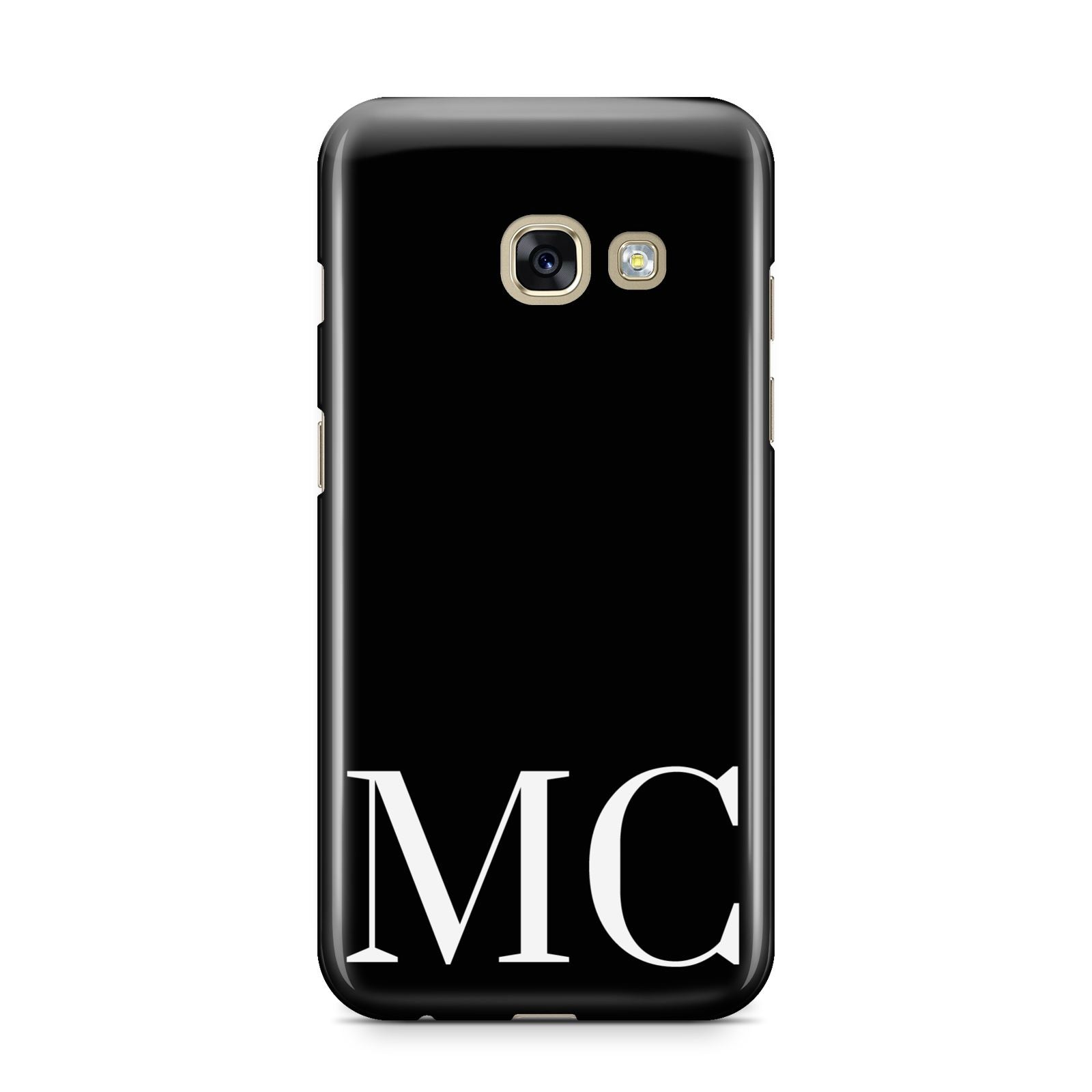 Initials Personalised 1 Samsung Galaxy A3 2017 Case on gold phone
