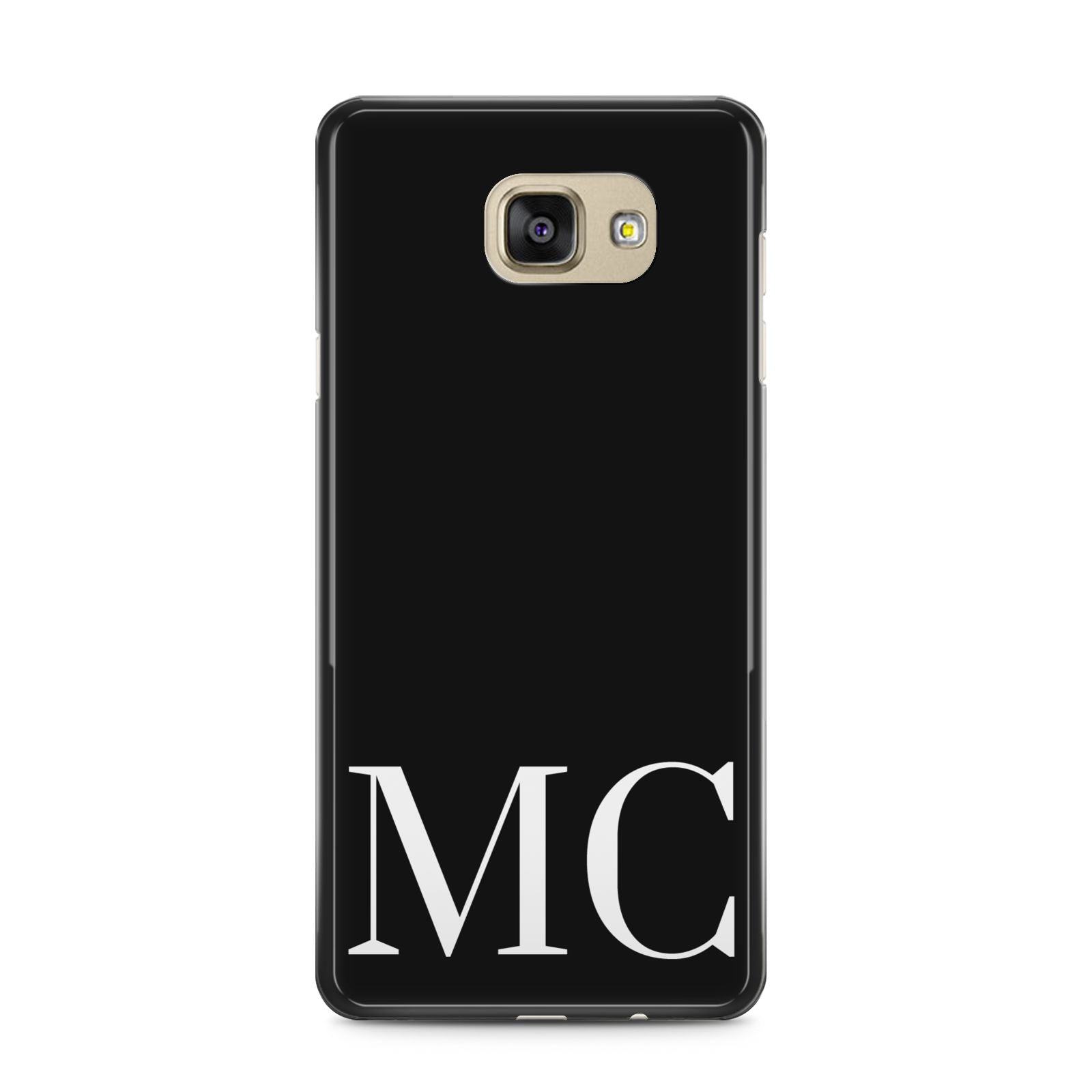 Initials Personalised 1 Samsung Galaxy A5 2016 Case on gold phone