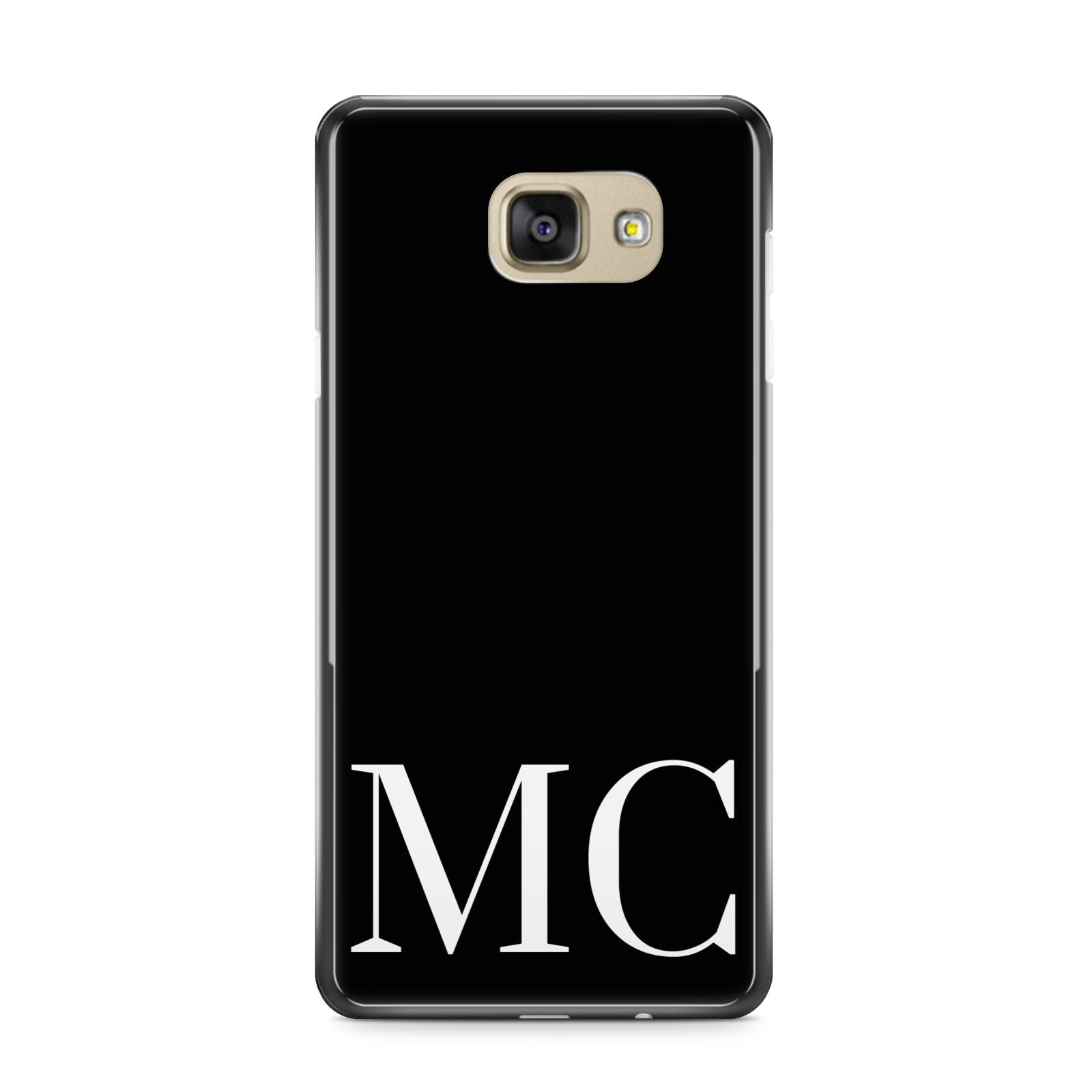 Initials Personalised 1 Samsung Galaxy A9 2016 Case on gold phone
