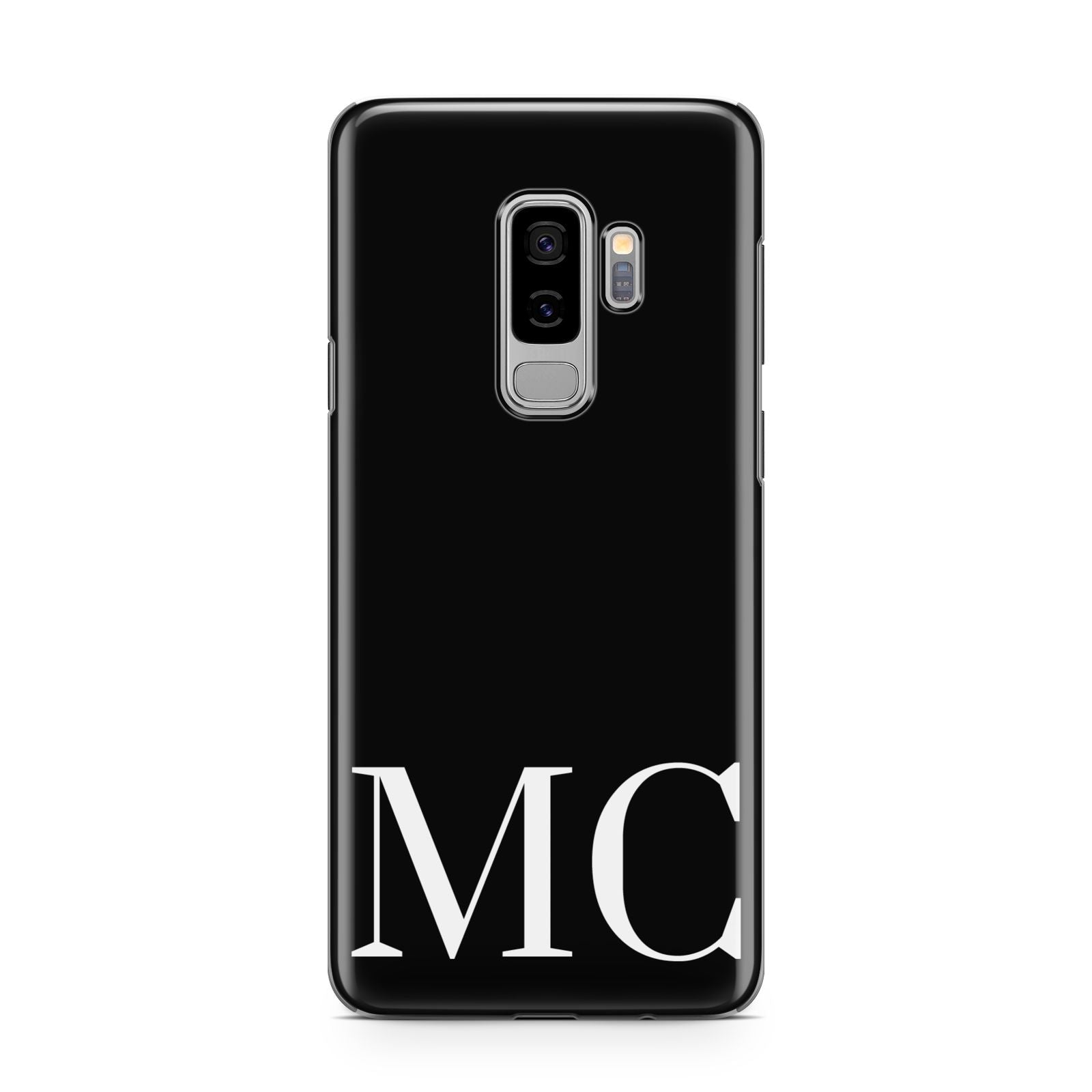 Initials Personalised 1 Samsung Galaxy S9 Plus Case on Silver phone