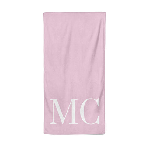 Initials Personalised 2 Beach Towel