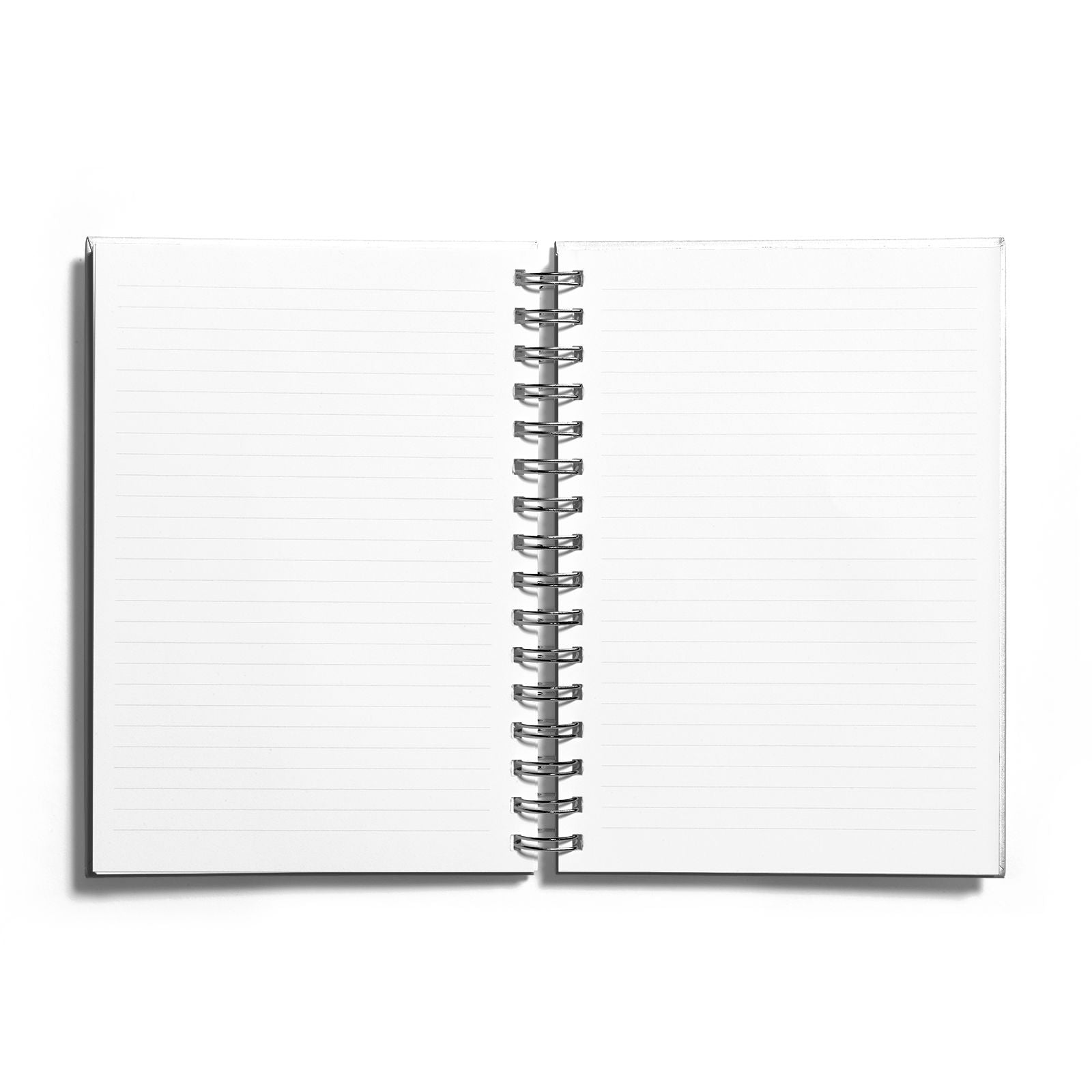 Kisses Under The Mistletoe Notebook with Silver Coil and Lined Paper